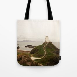 Tŵr Mawr Lighthouse Tote Bag
