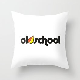 OLDSCHOOL v2 HQvector Throw Pillow