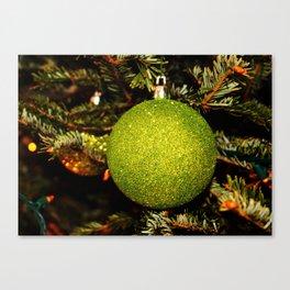 Green Ornament Canvas Print