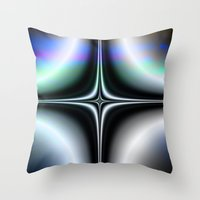 saturn Throw Pillows featuring Saturn by Robin Curtiss