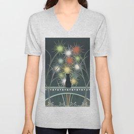 Fireworks Unisex V-Neck
