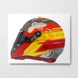Carlos Sainz 2020 Helmet Design Metal Print