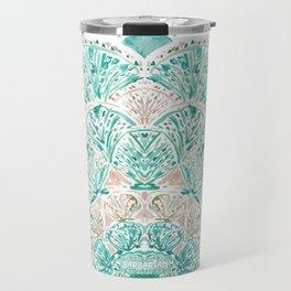 SO SHELLULAR Mint + Rose Gold Shell Mandala Travel Mug
