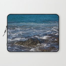 rock in the waves Laptop Sleeve
