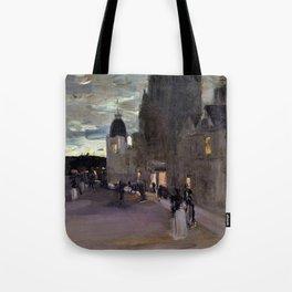 12,000pixel-500dpi - Sir James Guthrie - Street in Oban, Night - Digital Remastered Edition Tote Bag