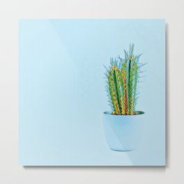 Glowing Cactus Metal Print