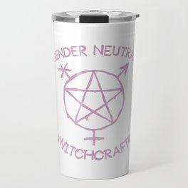 Gender Neutral Witchcraft (pink) Travel Mug