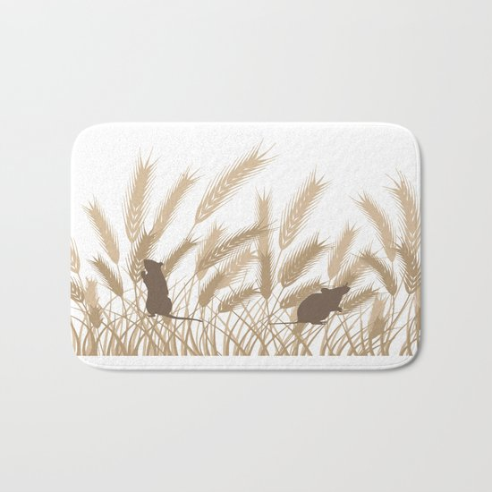 Mice In The Grain No. 2 Bath Mat