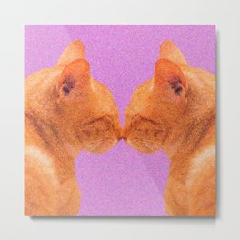 Love Valentine Cute Cats #decor #society6 #buyart Metal Print