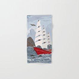 Red ship Hand & Bath Towel