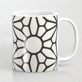 black & white geometric pattern middle eastern Moroccan art deco pattern Coffee Mug
