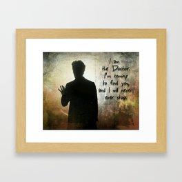 I am the Doctor Framed Art Print