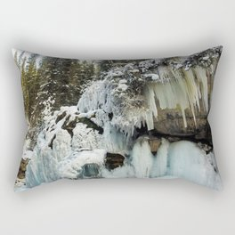 The Grotto Ice cave in Maligne Canyon Rectangular Pillow