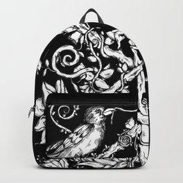 Runes & Ravens in Black Backpack