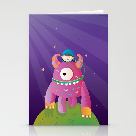 Monster pet Stationery Cards
