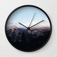 yosemite Wall Clocks featuring Yosemite by Leah Flores