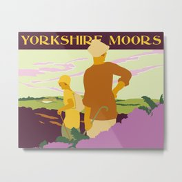 Yorkshire Moors hiking Metal Print