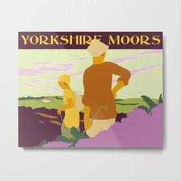 Yorkshire Moors hiking Metal Print