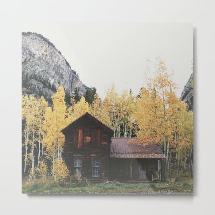 Crystal Cabin Metal Print
