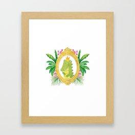 Royal Gator Framed Art Print
