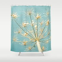 umbrella Shower Curtains featuring Umbrella by Cassia Beck