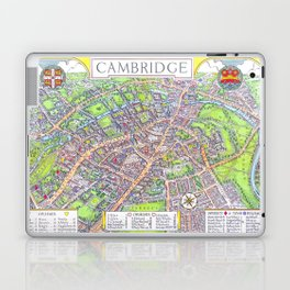 CAMBRIDGE University map ENGLAND Laptop & iPad Skin