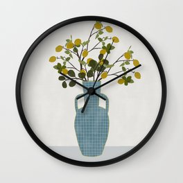 Vase with Lemon Branches Wall Clock