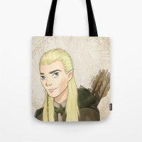 legolas Tote Bags featuring Legolas by Joan Pons