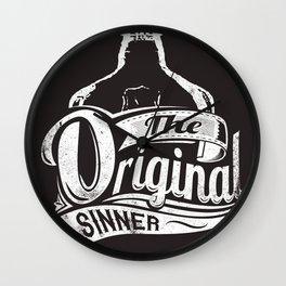 The original sinner Wall Clock