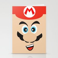mario bros Stationery Cards featuring Super Mario Bros NES by JAGraphic