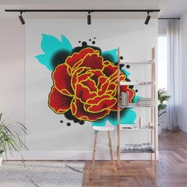 Red Peony  Wall Mural