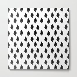 Falling for you black and white pattern Metal Print