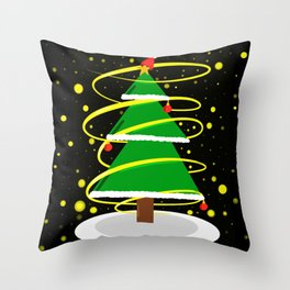 Beautiful Christmas tree Throw Pillow