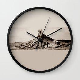 WAVE #2 - sepia Wall Clock