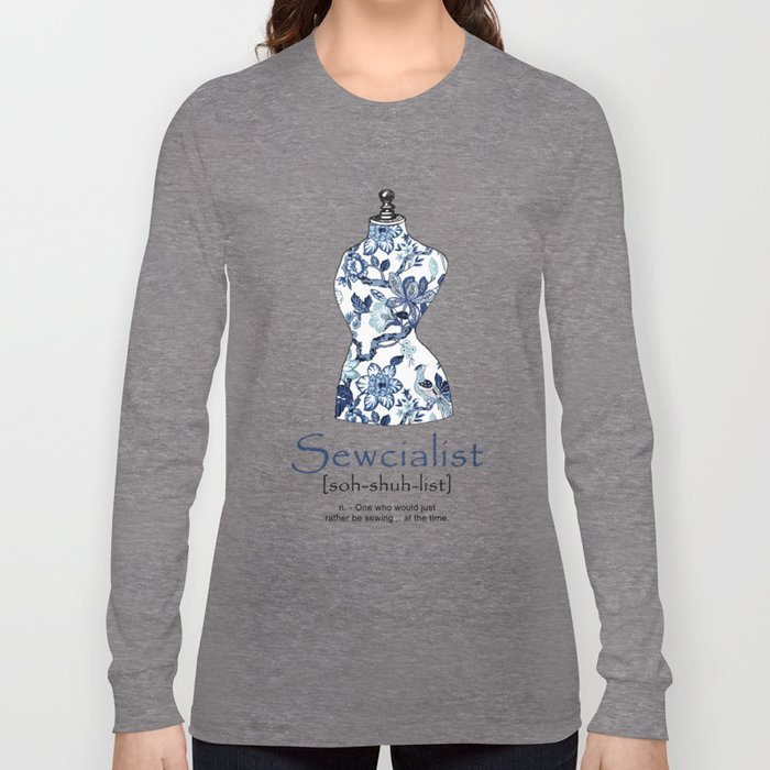 sewcialist long sleeve t shirt by forgottenelf society6