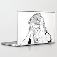 introvert Laptop & iPad Skins featuring Introvert 1 by Heidi Banford