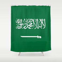 National flag of  the Kingdom of Saudi Arabia - Authentic version to scale and color Shower Curtain