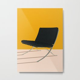 Barcelona Chair Metal Print