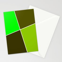 Just three colors 29 green Stationery Cards