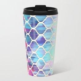 Moroccan Meltdown - pink, purple & aqua painted tiles Travel Mug