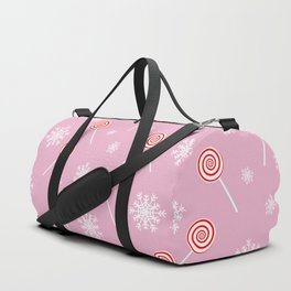 Winter lollipop design Duffle Bag