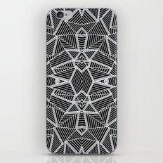 Abstract Lines Black and Silver M iPhone & iPod Skin
