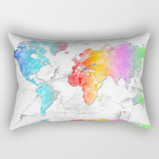 world map marble 2 Rectangular Pillow