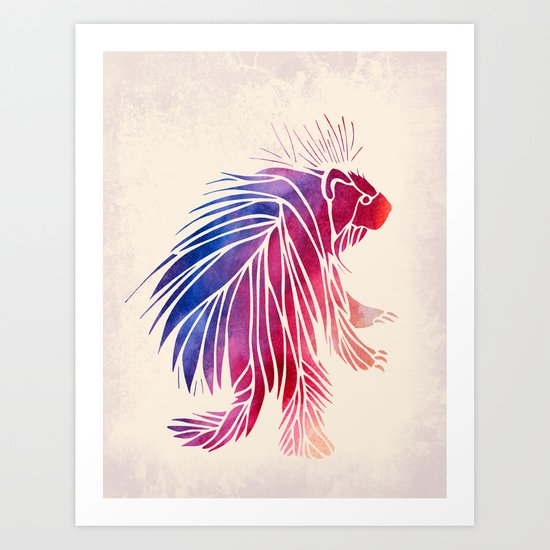 Watercolor Porcupine Art Print