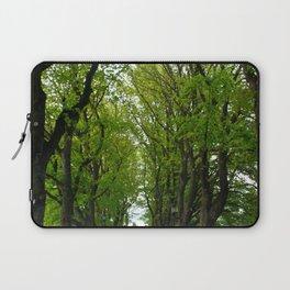Tree Lined Walkway Photography Print Laptop Sleeve