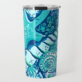 She Sells Sea Shells Blue Travel Mug