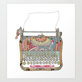 I DON'T KNOW WHAT TO WRITE YOU Art Print