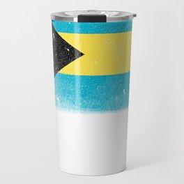 vintage bahamas tee bahamian flag Travel Mug