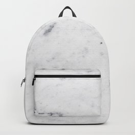 White Marble #1 #texture #marble #decor #art #society6 Backpack