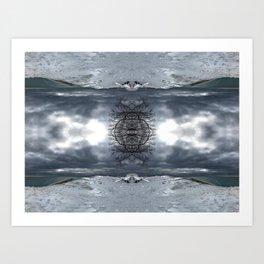 Lake Michigan - Frozen Beach - Northern Michigan - Up North - frozen waves - Frankfort Art Print